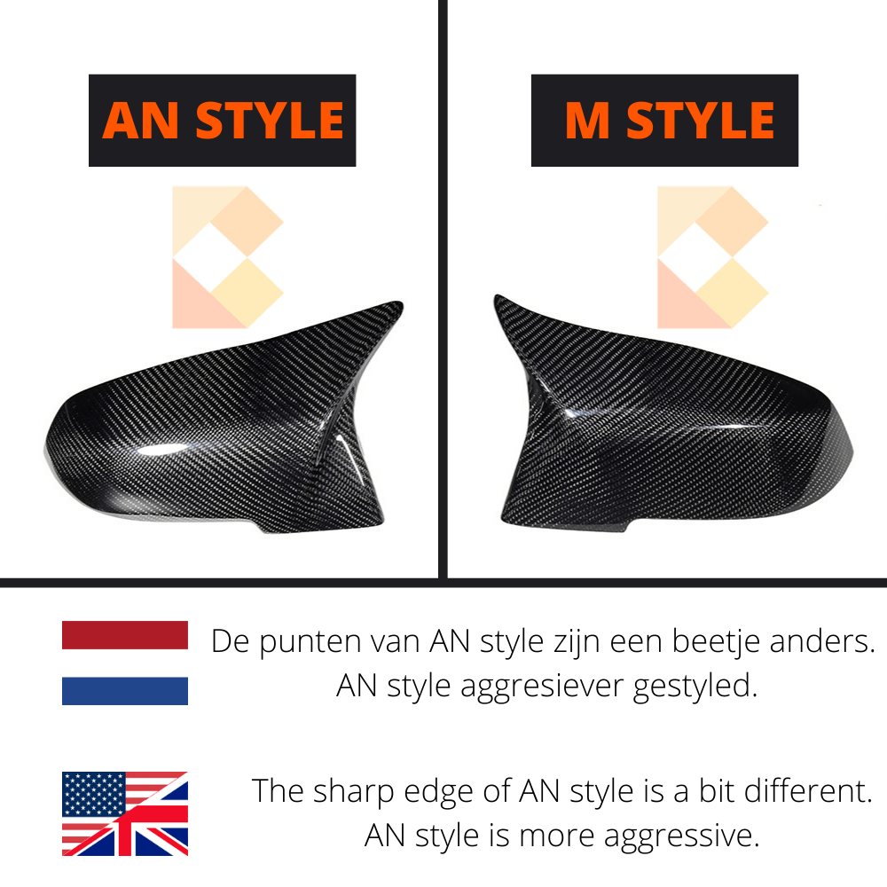 M style or AN style mirror cover, difference