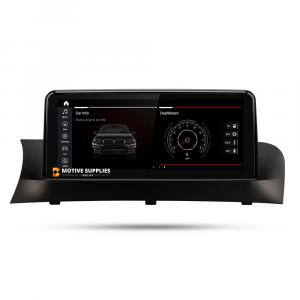 Navigatie scherm met Android 10 en 10.25′ inch touch screen 'top mount' voor BMW X3 (F25)