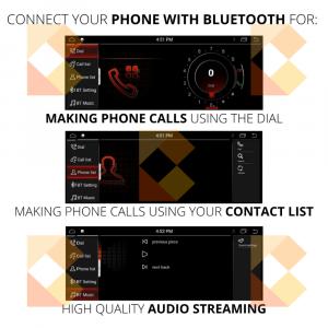 Navigatie scherm met Android 10 en 8.8′ inch touch screen voor BMW 2 Serie (F22, F23 & F87)