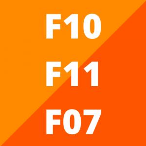 F10, F11 en F07 (2010 - 2016)