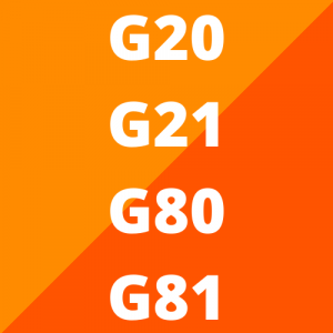 G20, G21, G80 en G81 (vanaf 2018)