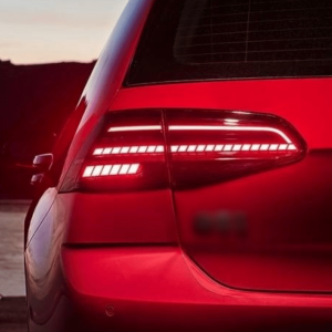 Facelift Look Achterlichten (Dynamisch) Candy Rood voor Volkswagen Golf 7 & 7.5 (R, GTi etc)