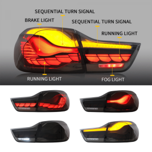 OLED Achterlichten GTS CS Style Black Optic Smoke voor BMW 4 Serie F32, F33, F36 & M4 F82 F83